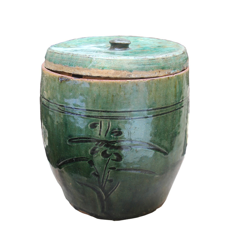 ANTIQUE ORIENTAL CERAMIC POT