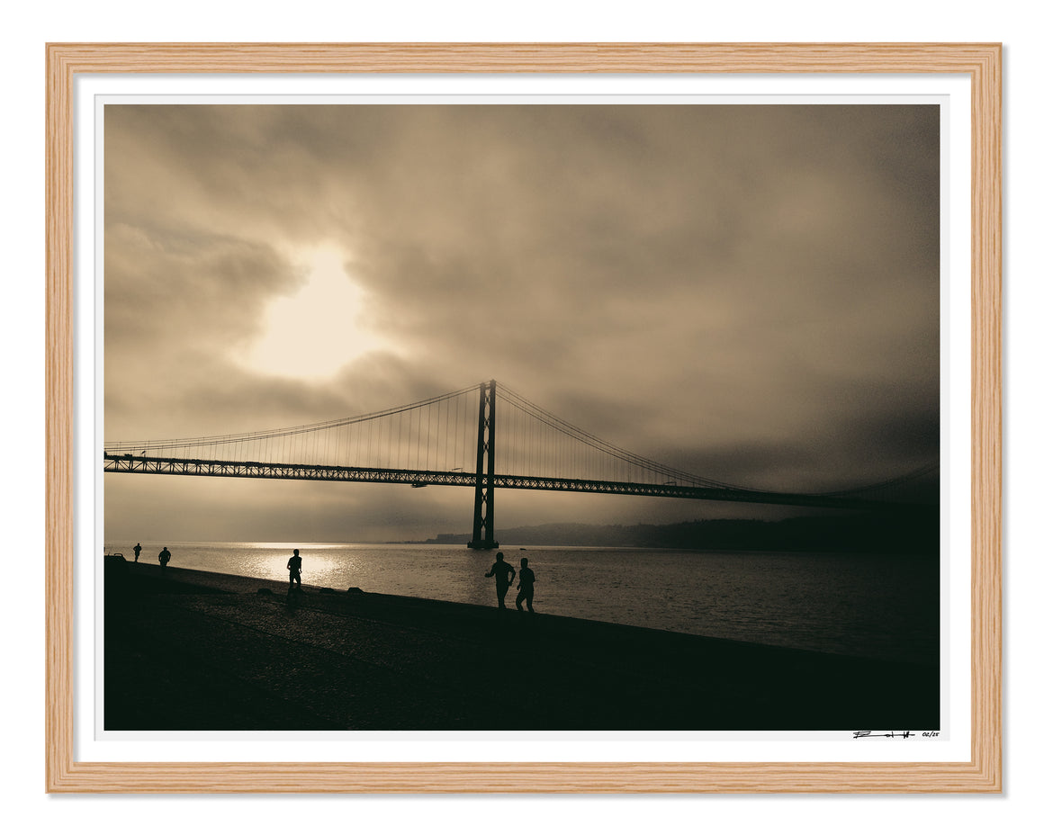 PRE-FRAMED BELEM BRIDGE PORTUGAL 16x20