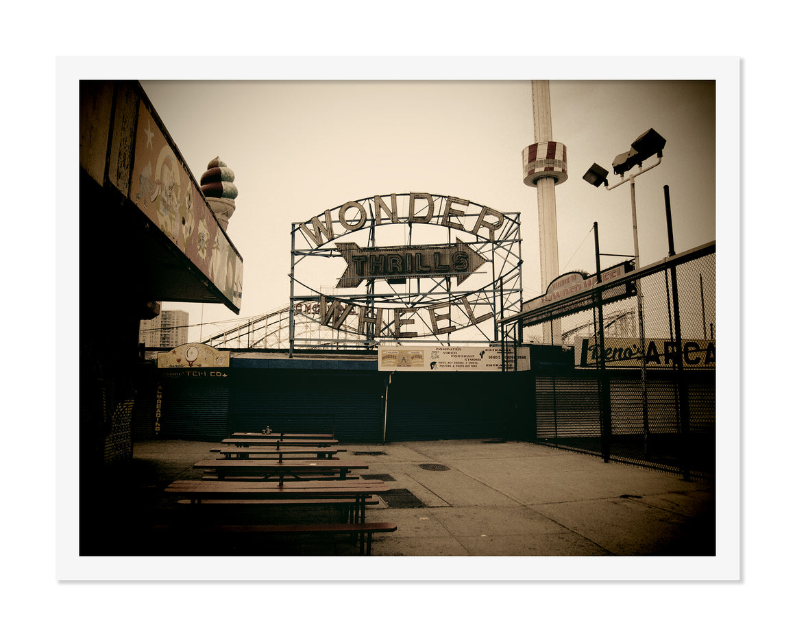PRE-FRAMED CONEY ISLAND WONDERWHEEL 12x16