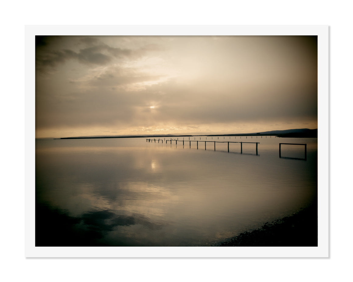 PRE-FRAMED LAKE NEUSIEDL AUSTRIA SUNSET 16x20
