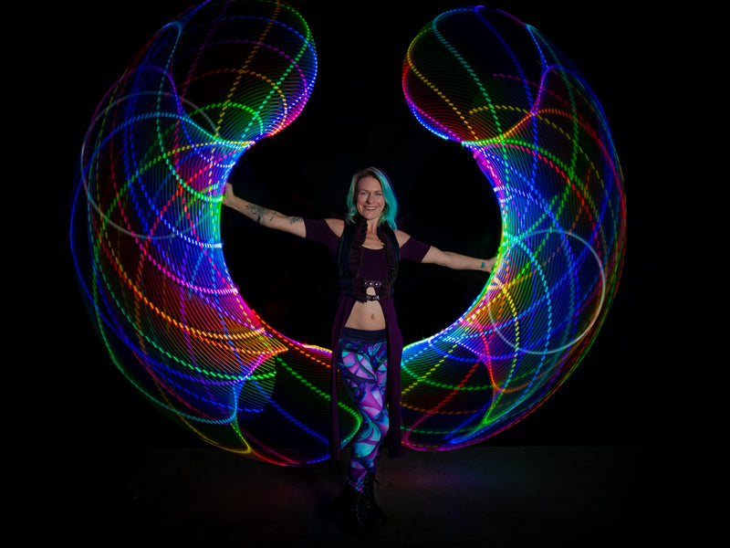 Removable Battery Atomic V Programmable LED Hoop + Designer