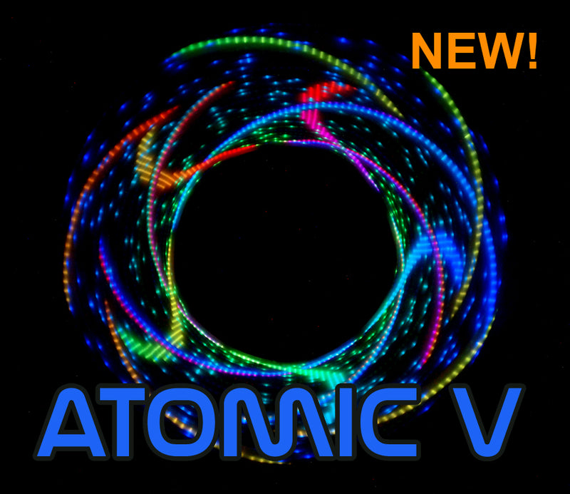 Clearance In Stock Atomic V Programmable LED Hoop + Designer (Regular Pixel)