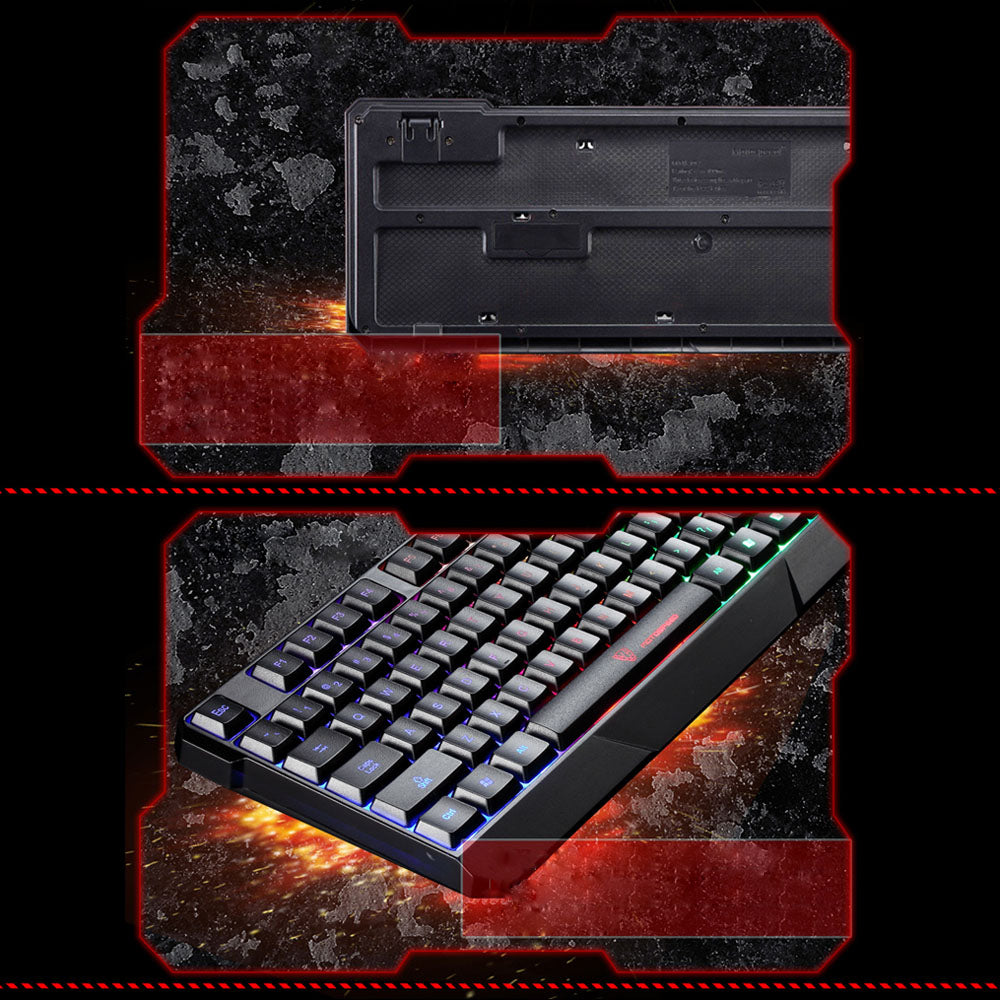 Pro Gaming Backlit Keyboard Wired with 7 Colors - 104 Keys