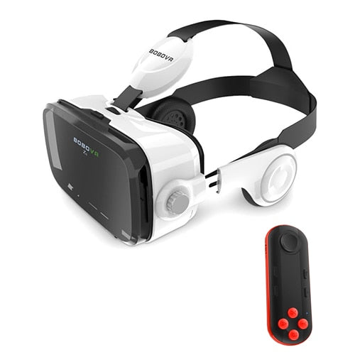 All-in-one Virtual Reality Glasses for Smartphones (iOS/Android) - Enjoy 3D movie/games using gamepad