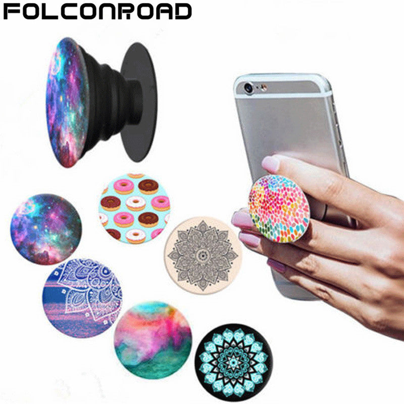 Top Pattern Painting Pop Car Phone Holder for Iphone 7 6 5S  Car Holder 360 Degree Rotatable support Mobile Car Pop Phone Stand - CanaRama