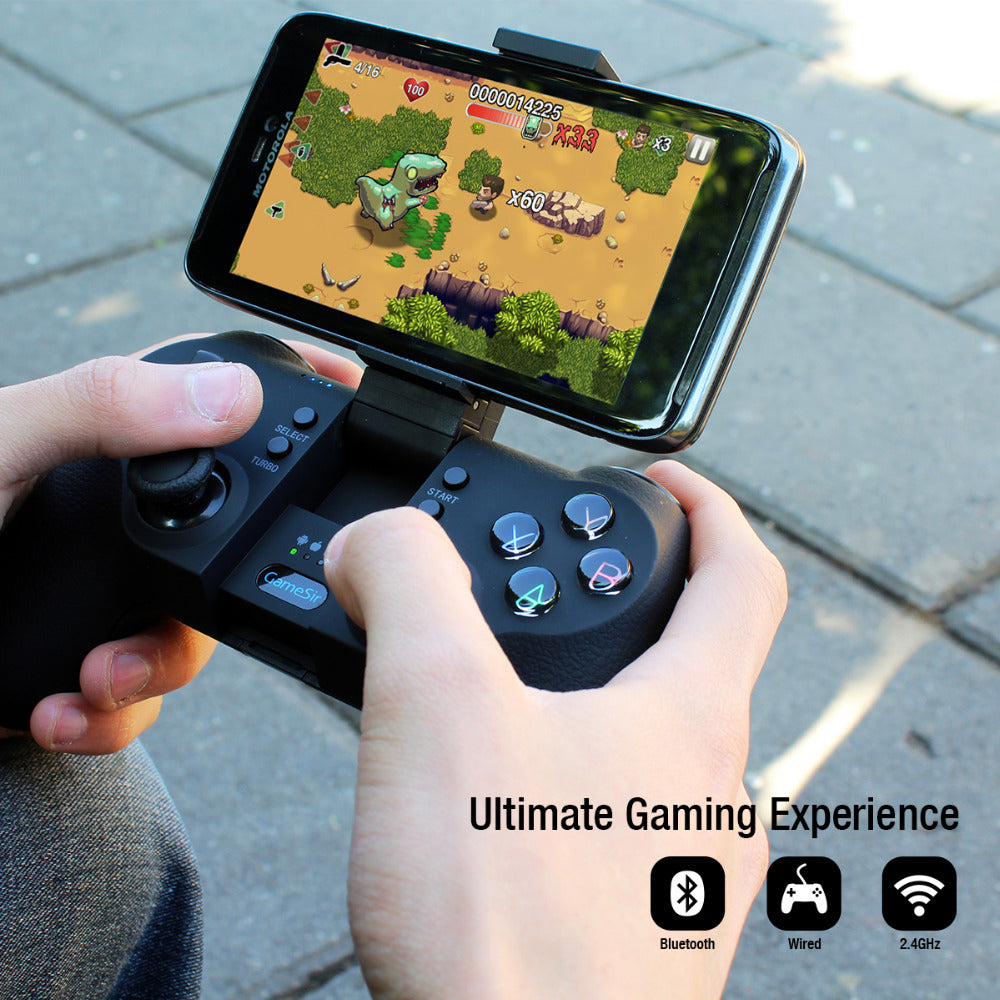 Enjoy Ultimate Gaming experience with T1s Bluetooth Wireless Gaming Controller - compatible with Android, Windows, Samsung Gear VR and PS3 - CanaRama