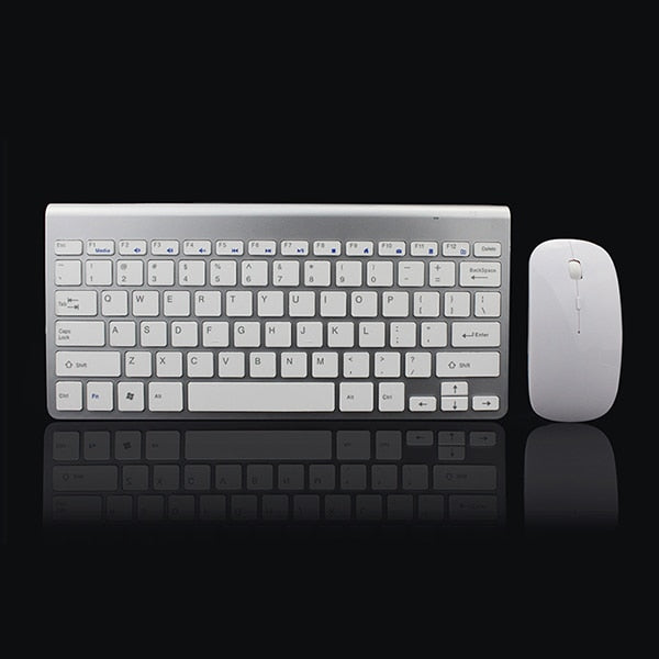 2.4Ghz Bluetooth Keyboard Mouse Combo for iPad/iPhone - white - CanaRama
