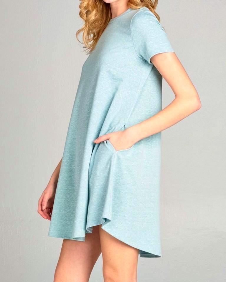 Candice Short Sleeve Basic Dress - size S