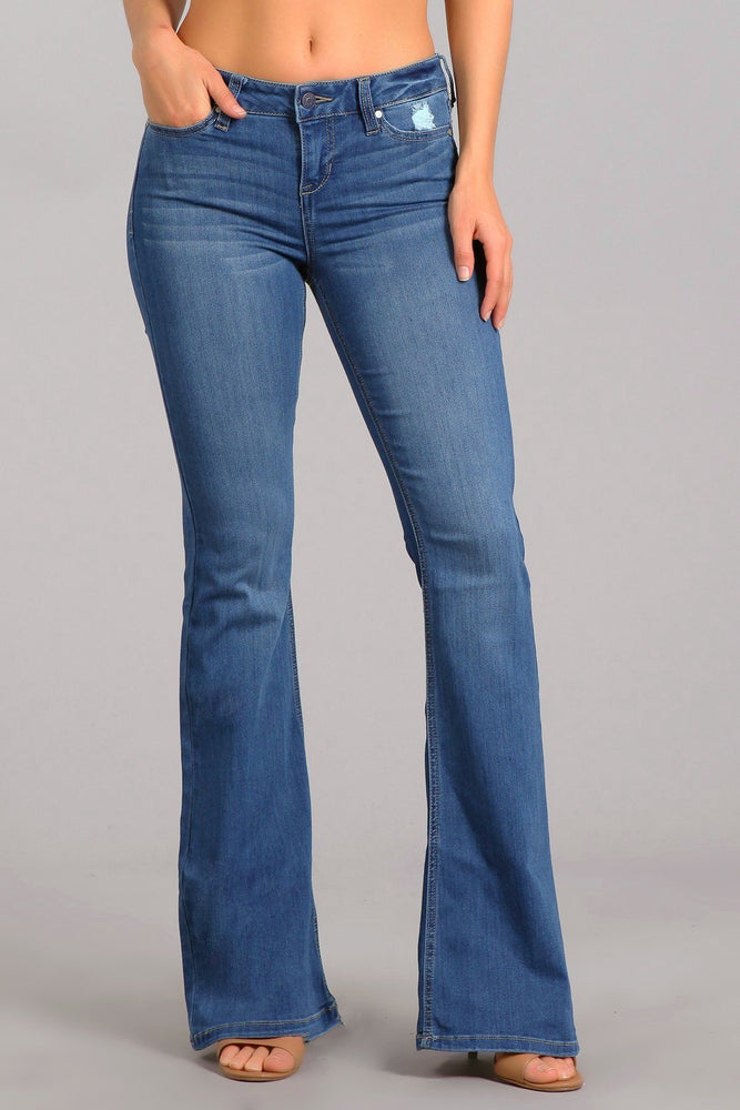 Dixie Stretch Flare Leg Jean