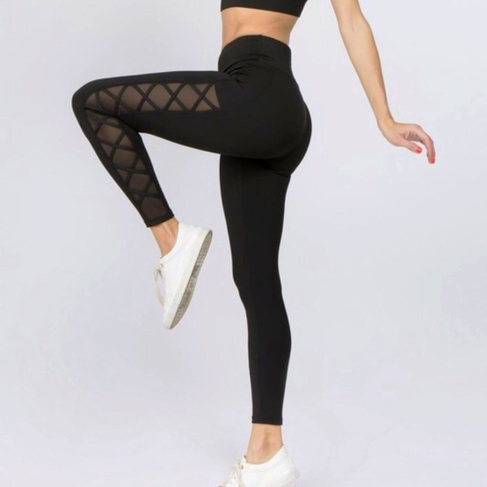 Uncage Her Lace-Up Legging