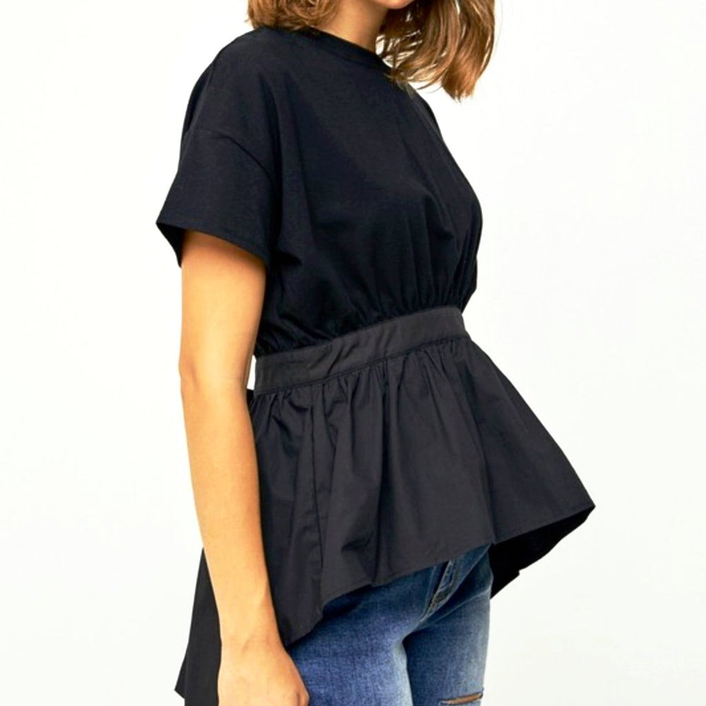 Magnolia High-Low Empire Waist Top