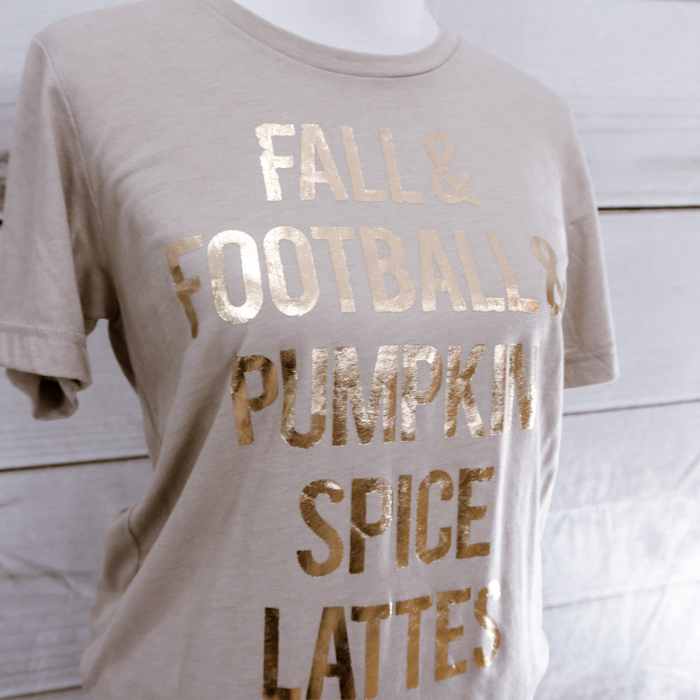 Fall, Football & Pumpkin Spice Lattes Gold Foil Top