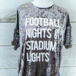 Football Nights & Stadium Lights Crushed Velvet Tee