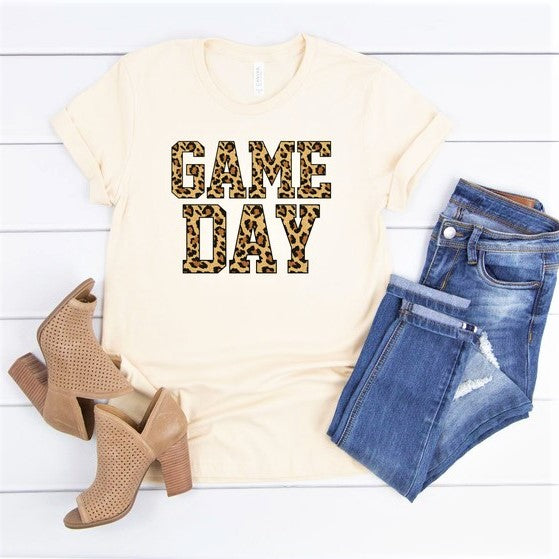 Leopard Print Gameday Tee