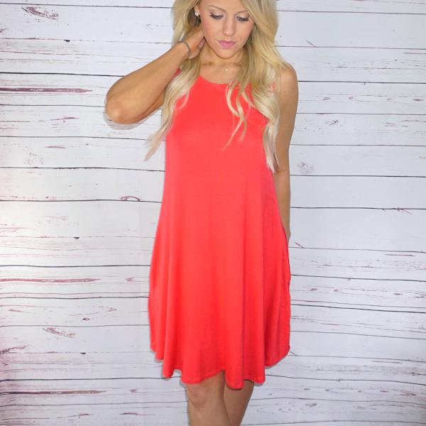 Cammie Pocketed Basic Dress