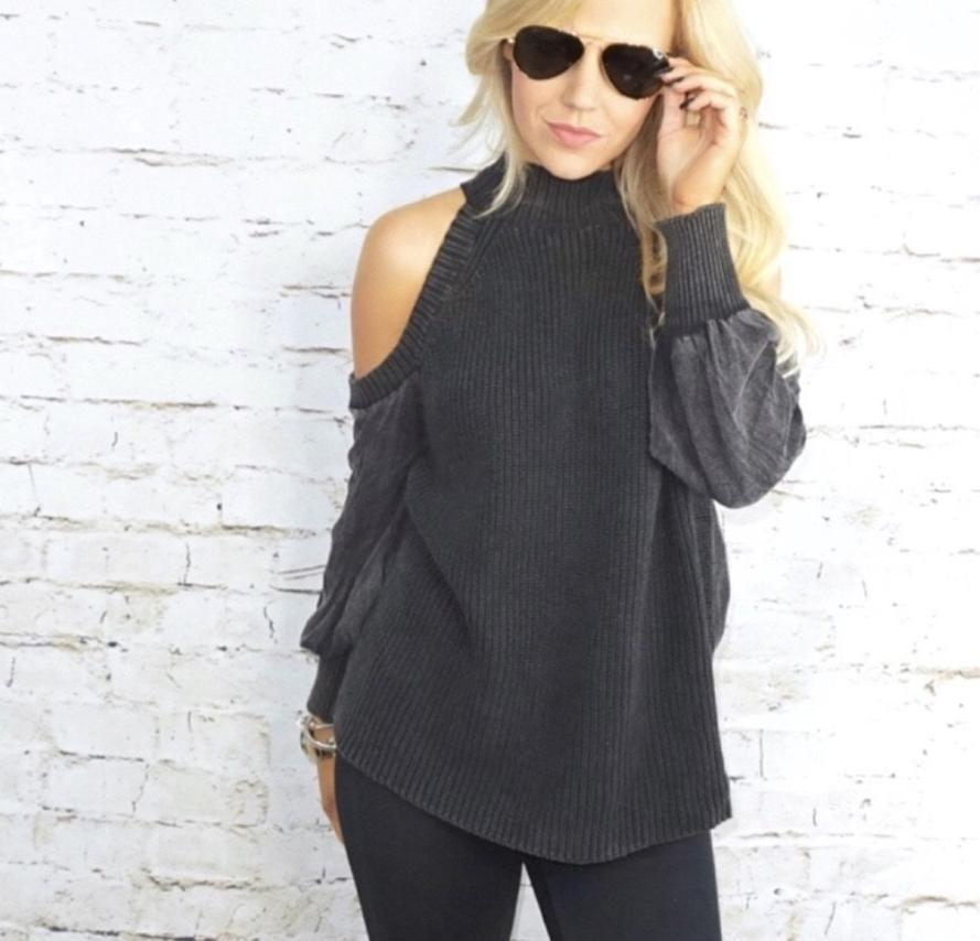 Mason Cold Shoulder Sweater Top