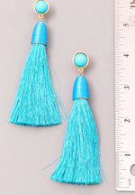 Kimmie Tassel Earrings - Turquoise