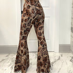Xena Animal Print Denim Pants
