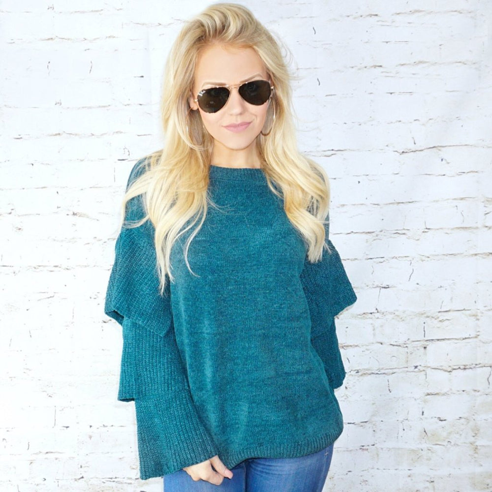 Lilla Layered Sleeve Sweater Top