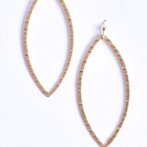 Hillary Textured Bardrop Earrings