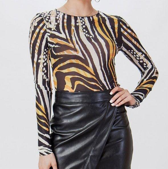 Revel Patterned Bodysuit
