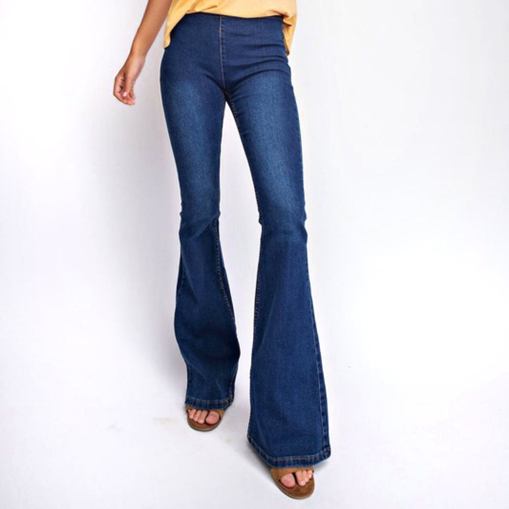 Della Stretch Bell Bottom Jean