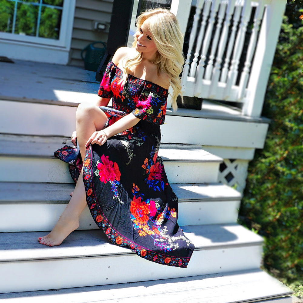Camilla Floral Wrap Maxi Dress