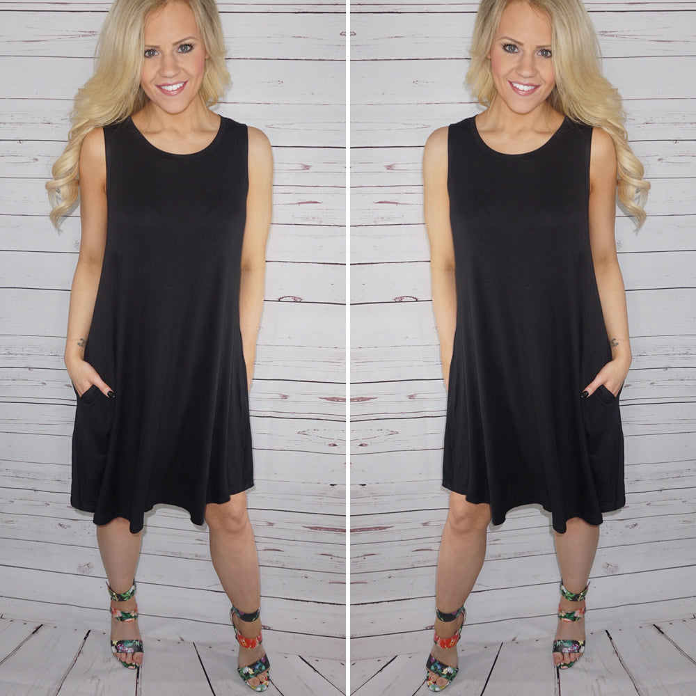 Camryn Pocketed Basic Dress