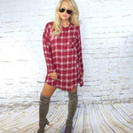 Fallon Plaid Button Down Top