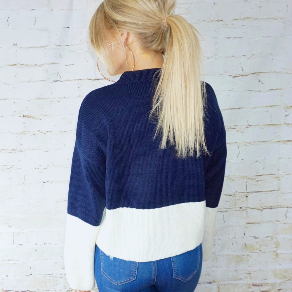 Lanie Color Block Pullover Top