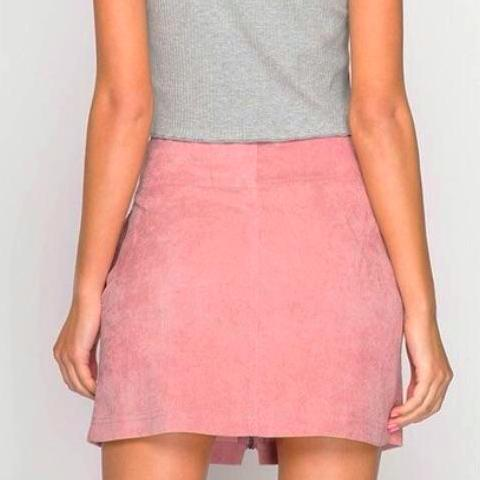 Stahsi Zip-Front Mini Skirt