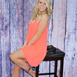Missy Cami Shift Dress - neon pink