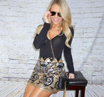 Mally Sequin Mini Skirt