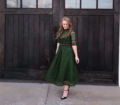 Miss Lynsie wears Green