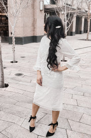 Beauty and Lace Midi Dress