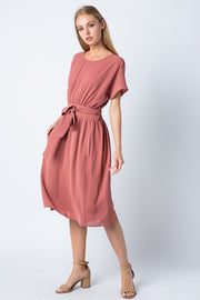 Keep Your Cool Rose Midi Dress