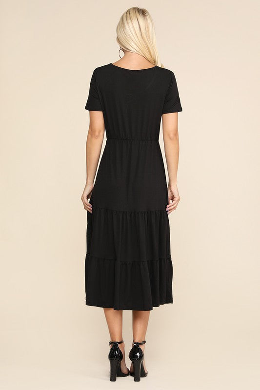Lovely Delight Tiered Midi Dress
