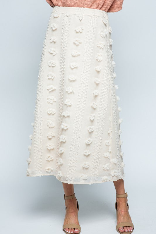 All About Swiss Dots Midi Skirt