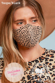 PREMIUM Leopard Protective Face Mask with Filter