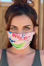 PREMIUM Jersey Pink Birds of Paradise Mask