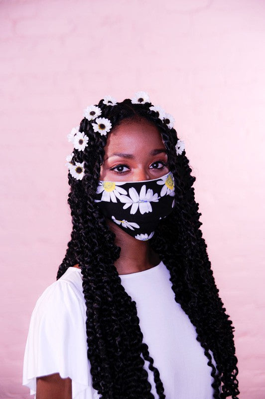 PREMIUM Floral Jersey Protective Face Mask