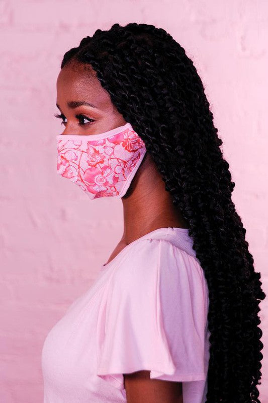 PREMIUM Pink Rose Cotton Protective Face Mask