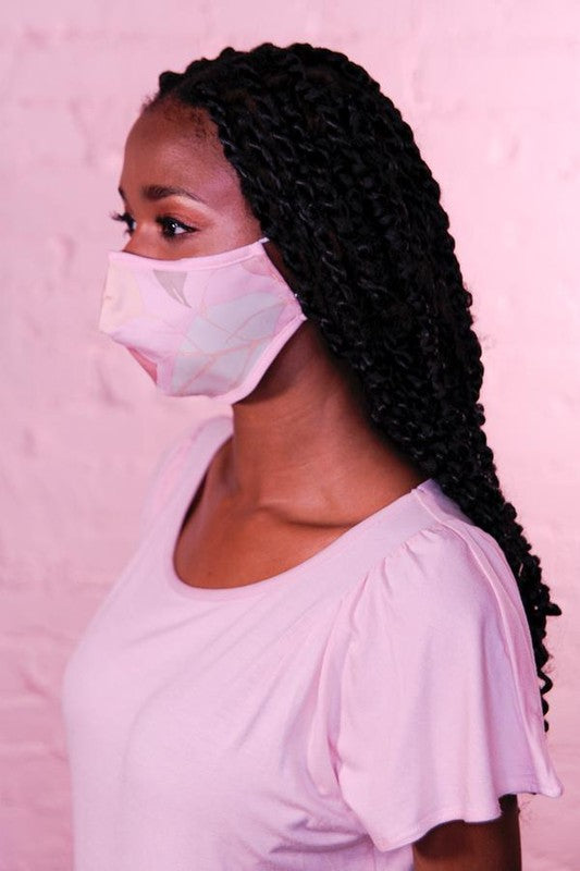 PREMIUM Pink Meadow Cotton Protective Face Mask