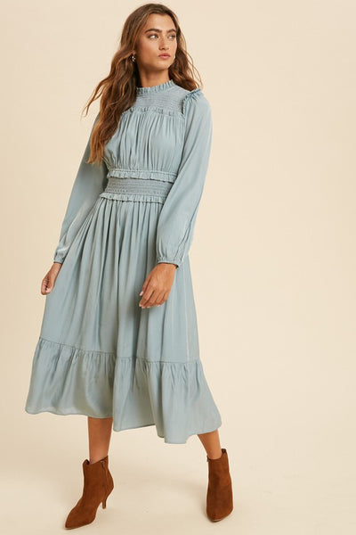 The Bianca Smocked Midi Dress