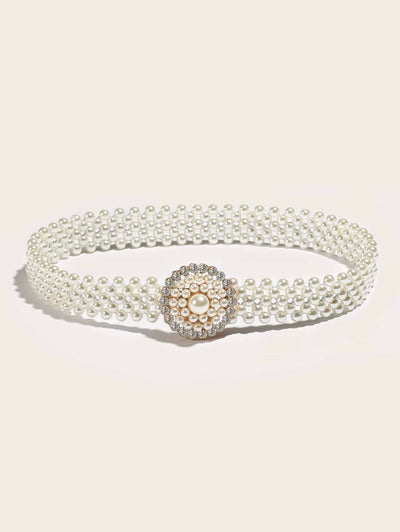 ClassyLoft  Stretch Pearl Belt
