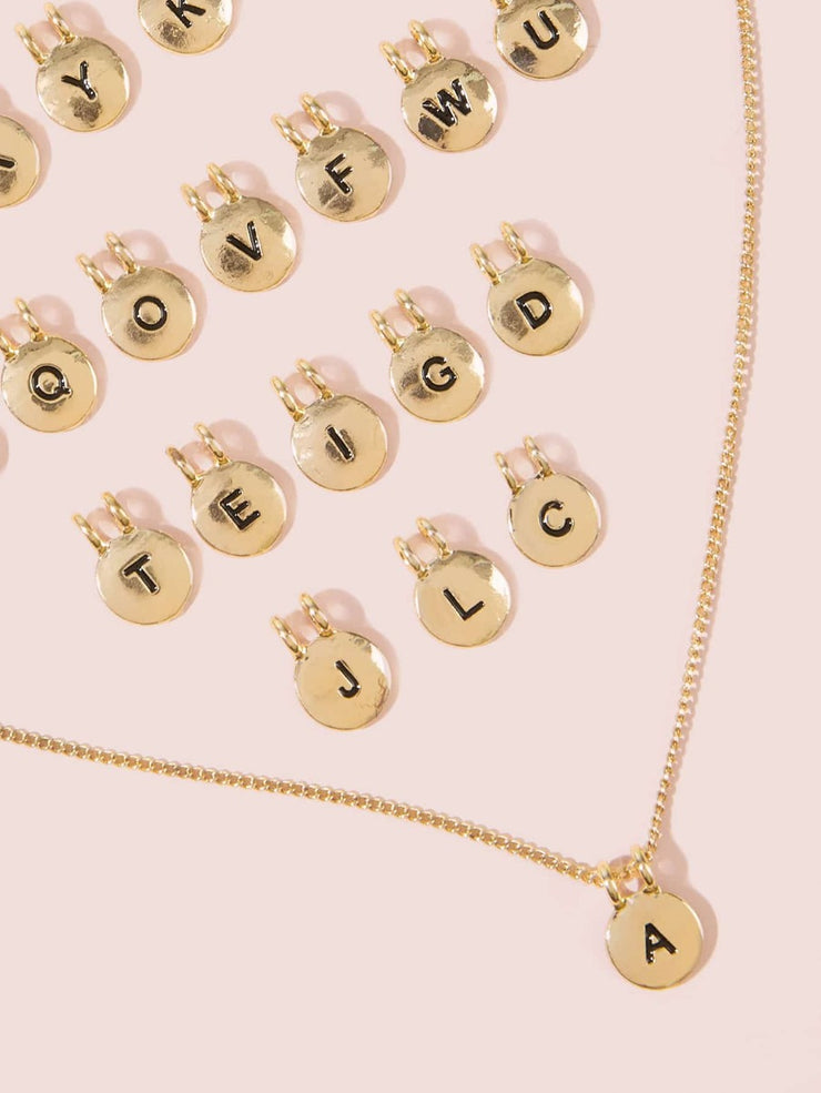 27 pc Letter Charm Necklace
