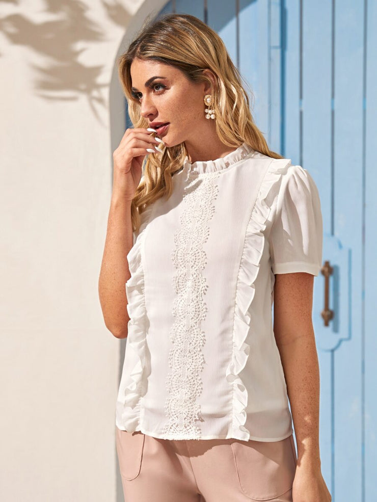Style Frill White Top
