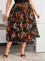 Curvy Summer Pleated Skirt