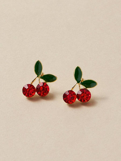 Cherry in Top Stud Earrings