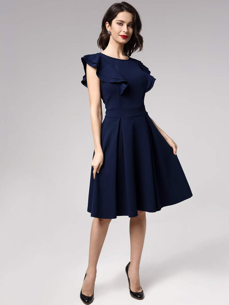PREORDER Get It Right Ruffle Midi Dress